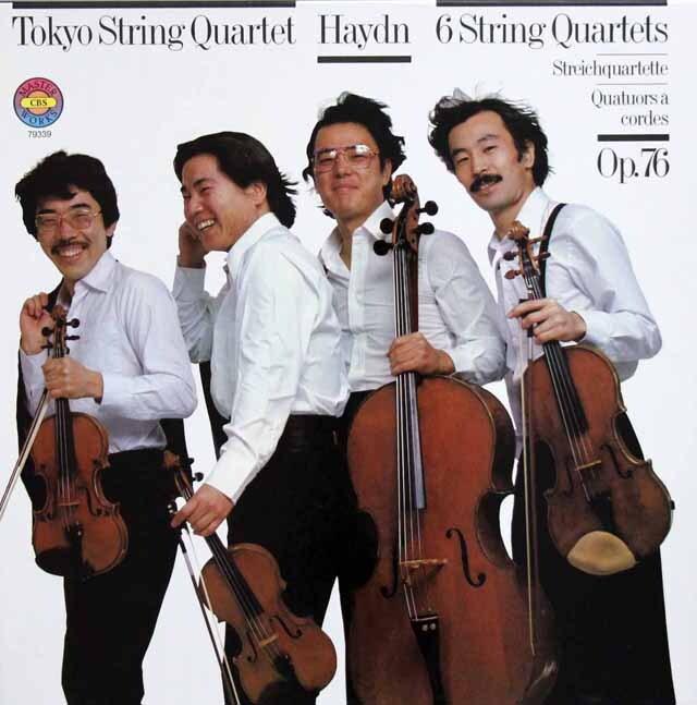 東京クヮルテットのハイドン/弦楽四重奏曲作品76(「五度」、「皇帝」ほか) 独CBS 3324 LP レコード