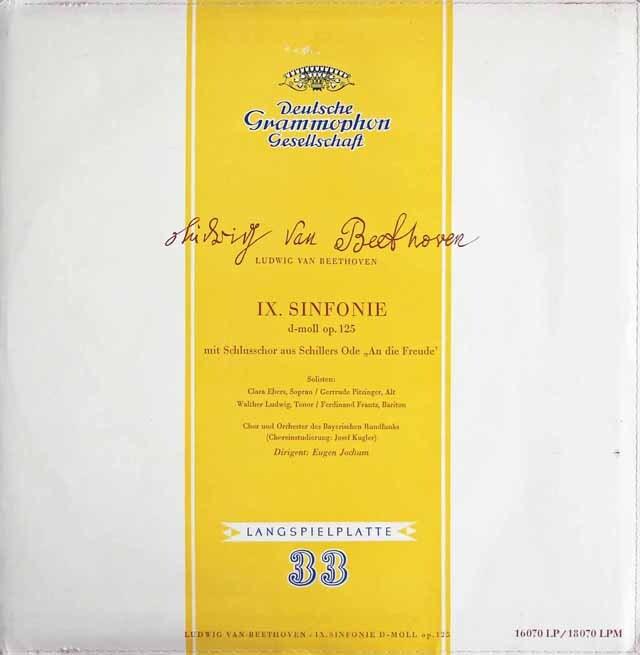 ヨッフムのベートーヴェン/交響曲第9番「合唱付き」 独DGG 3325 LP レコード