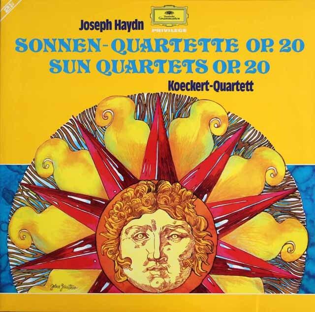 ケッケルト四重奏団のハイドン/「太陽四重奏曲集」 独DGG 3325 LP レコード