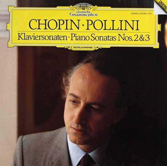 ポリーニのショパン/ピアノソナタ第2番「葬送行進曲付き」&第3番 独DGG 3325 LP レコード