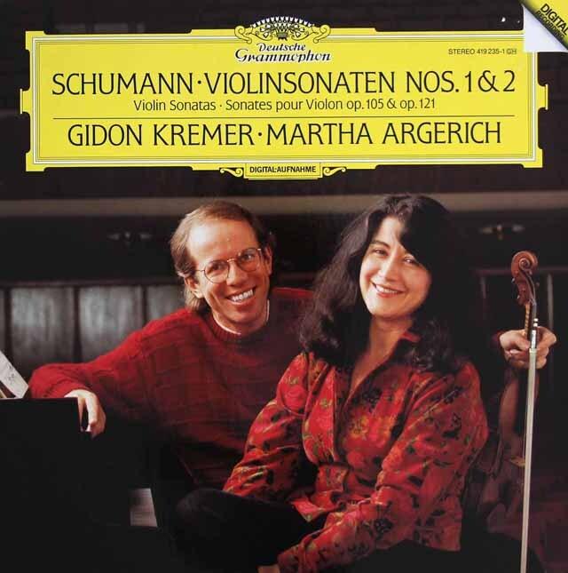 クレーメル&アルゲリッチのシューマン/ヴァイオリンソナタ第1&2番 独DGG 3325 LP レコード