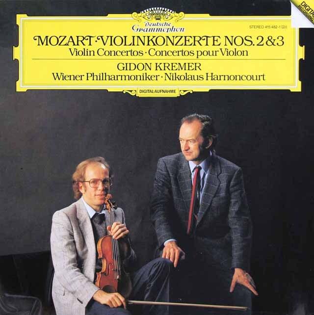 クレーメル&アーノンクールのモーツァルト/ヴァイオリン協奏曲第2&3番 独DGG 3325 LP レコード