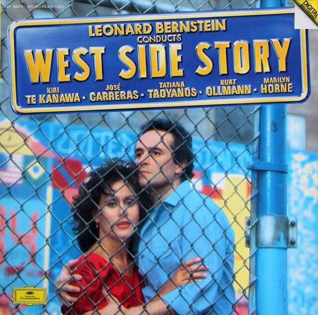 バーンスタインの自作自演/「ウエスト・サイド・ストーリー」 独DGG 3325 LP レコード