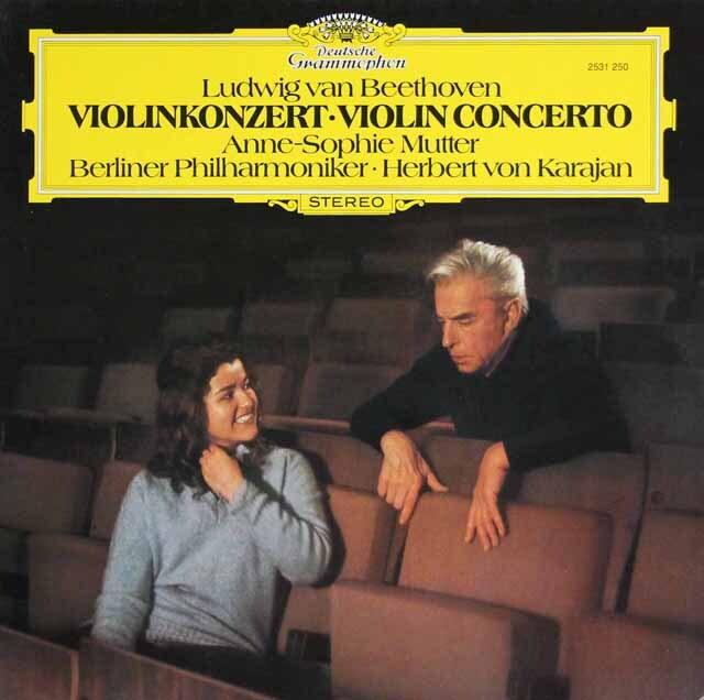 ムター、カラヤンのベートーヴェン/ヴァイオリン協奏曲 独DGG 3325 LP レコード