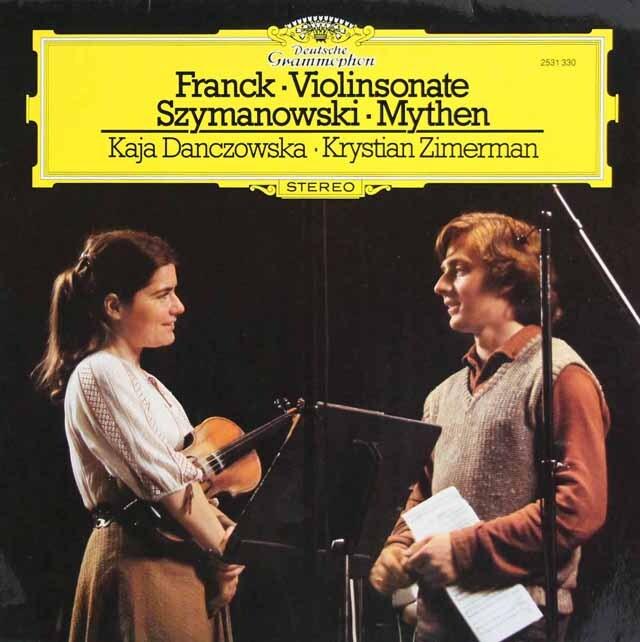 ダンチョフスカ&ツィンマーマンのフランク/ヴァイオリン・ソナタほか 独DGG 3325 LP レコード