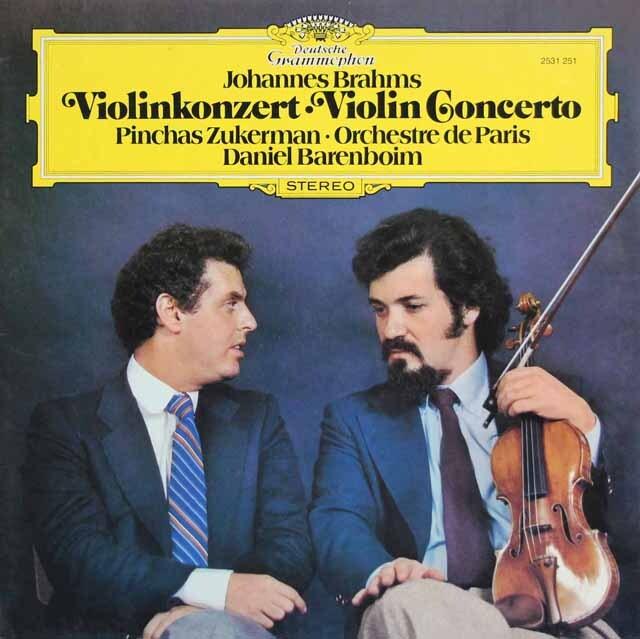 ズッカーマン&バレンボイムのブラームス/ヴァイオリン協奏曲  独DGG 3325 LP レコード