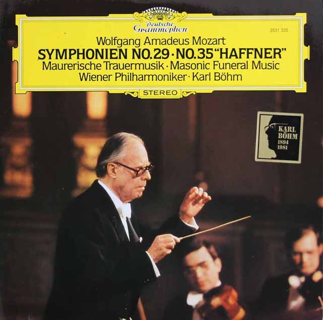 ベームのモーツァルト/交響曲第29&35番「ハフナー」ほか 独DGG 3325 LP レコード