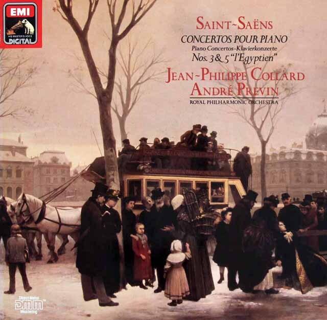 コラール&プレヴィンのサン=サーンス/ピアノ協奏曲第2&4番 独EMI 3325 LP レコード