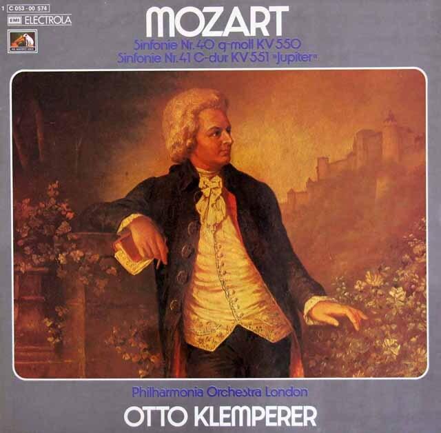 クレンペラーのモーツァルト/交響曲第40&41番「ジュピター」  独EMI 3325 LP レコード