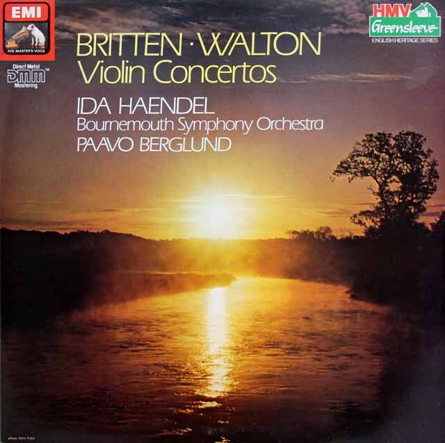 イダ・ヘンデル&ベルグルンドのブリテンー&ウォルトン/ヴァイオリン協奏曲集 英EMI 3325 LP レコード