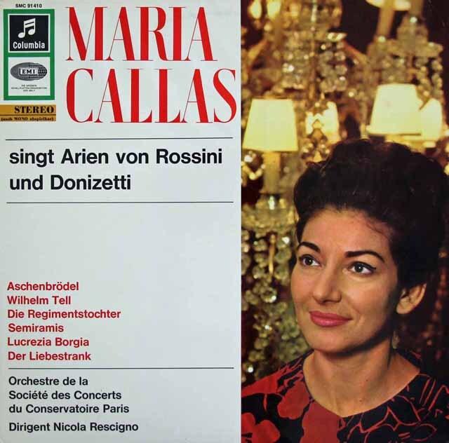 カラスのロッシーニ&ドニゼッティ/アリア集 独Columbia 3325 LP レコード