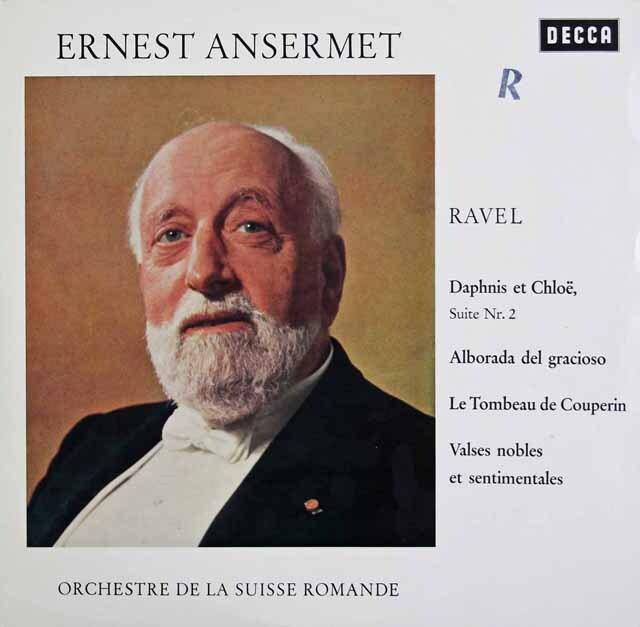 アンセルメのラヴェル/バレエ「ダフニスとクロエ」第2組曲ほか 独DECCA 3325 LP レコード