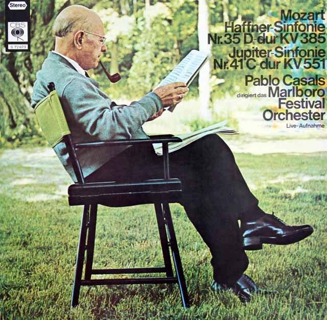 カザルスのモーツァルト/交響曲第35番「ハフナー」&第41番「ジュピター」  独CBS  3325 LP レコード