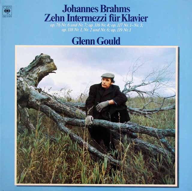 グールドのブラームス/間奏曲集 独CBS 3325 LP レコード