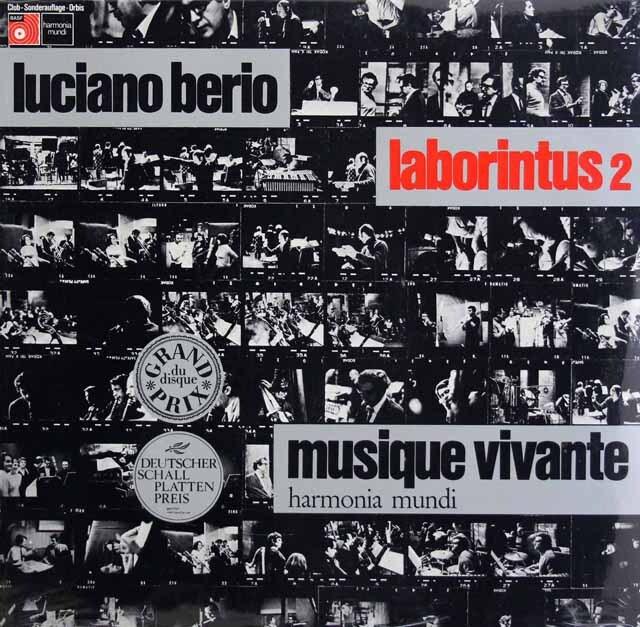 【未開封】 ベリオ自作自演/ラボリンタス第2 独BASF/HM 3325 LP レコード