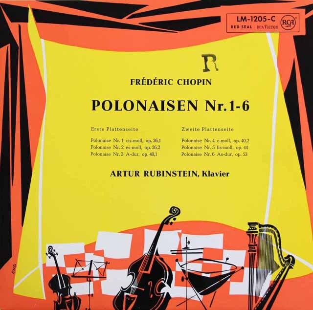 ルービンシュタインのショパン/ポロネーズ集 独RCA 3325 LP レコード