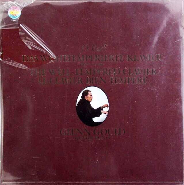 【未開封】 グールドのバッハ/平均律クラヴィーア曲集第1&2巻 蘭CBS 3325 LP レコード