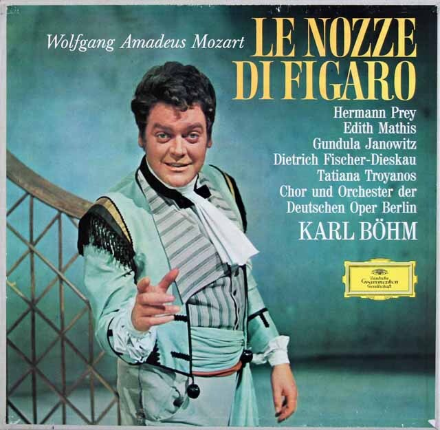 ベームのモーツァルト/「フィガロの結婚」 独DGG 3325 LP レコード