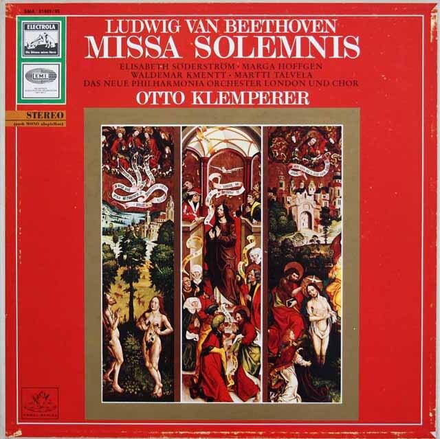 クレンペラーのベートーヴェン/ミサ・ソレムニス  独EMI 3325 LP レコード