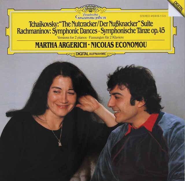 アルゲリッチ&エコノムのチャイコフスキー/2台のピアノのための「くるみ割り人形」  独DGG 3326 LP レコード