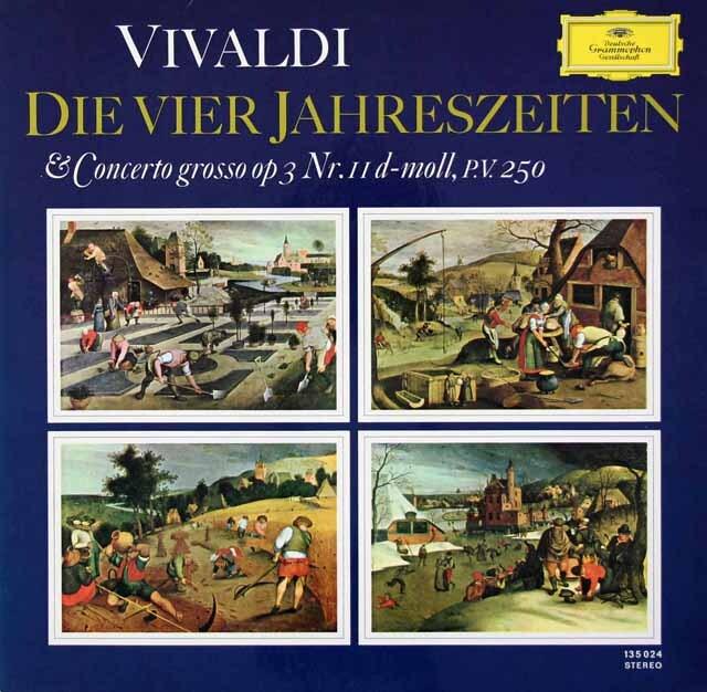 シュナイダーハン、バウムガルトナーのヴィヴァルディ/「四季」ほか 独DGG 3326 LP レコード