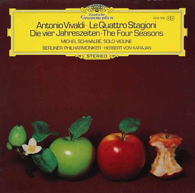 シュヴァルベ、カラヤンのヴィヴァルディ/「四季」 独DGG 3326 LP レコード