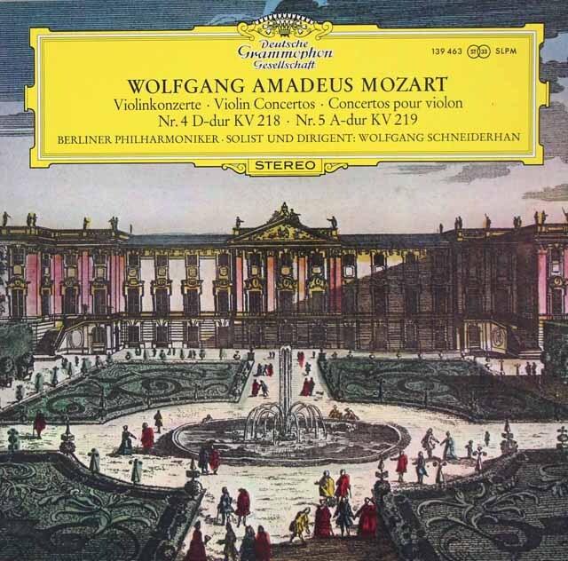 シュナイダーハンのモーツァルト/ヴァイオリン協奏曲第4、5番 独DGG 3326 LP レコード