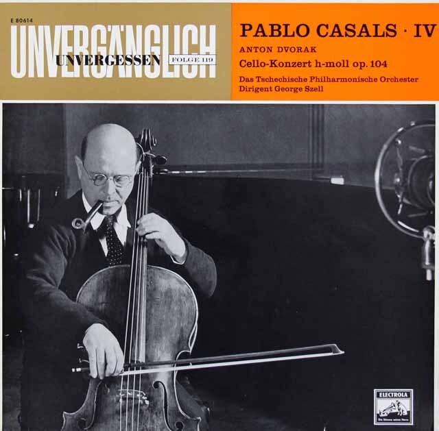 カザルス、セルのドヴォルザーク/チェロ協奏曲 独ELECTROLA 3326 LP レコード