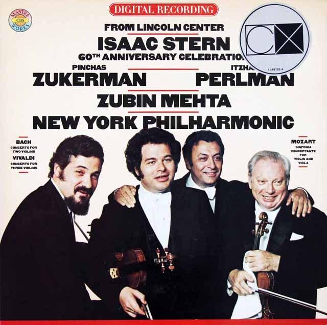 アイザック・スターン60歳記念演奏会 (スターン、ズッカーマン、パールマン、メータ) 蘭CBS 3326 LP レコード