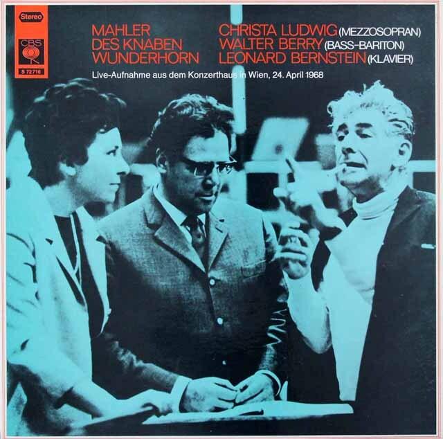 バーンスタインのマーラー/「少年の魔法の角笛」(ピアノ伴奏版) 独CBS 3326 LP レコード