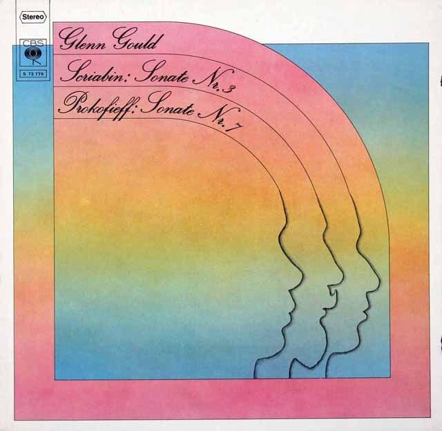 グールドのスクリャービン、プロコフィエフ/ピアノソナタ集 独CBS 3326 LP レコード