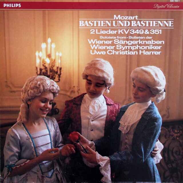 ウィーン少年合唱団のモーツァルト/歌劇「バスティアンとバスティエンヌ」ほか 蘭PHILIPS 3326 LP レコード