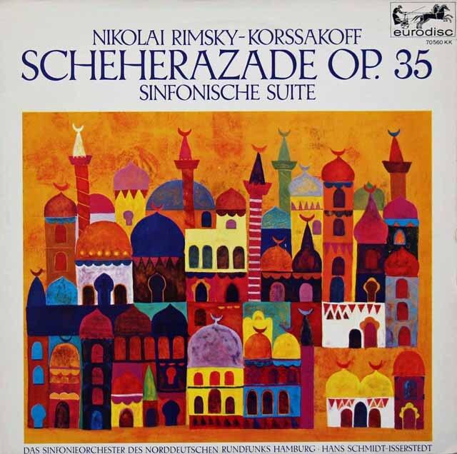 イッセルシュテットのリムスキー=コルサコフ/「シェヘラザード」 独eurodisc 3326 LP レコード