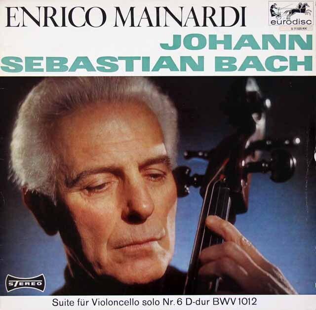 マイナルディのバッハ/無伴奏チェロ組曲第6番 独eurodisc 3326 LP レコード