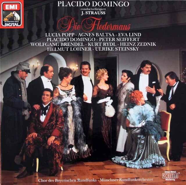 ドミンゴのJ.シュトラウス2世/「こうもり」全曲 独EMI 3326 LP レコード