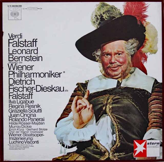 バーンスタインのヴェルディ/「ファルスタッフ」 独CBS 3326 LP レコード