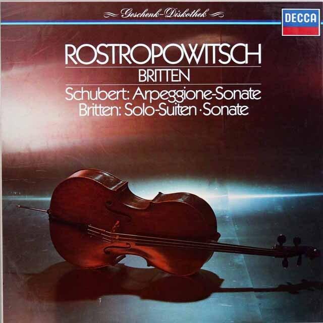 ロストロポーヴィチ、ブリテンのシューベルト/アルペジオーネ・ソナタほか 独DECCA 3326 LP レコード