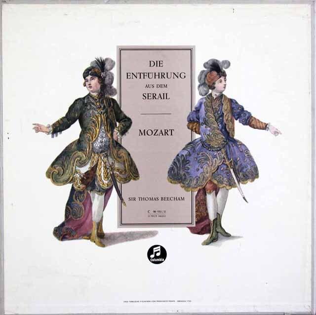 ビーチャムのモーツァルト/歌劇「後宮からの誘拐」 独Columbia 3326 LP レコード
