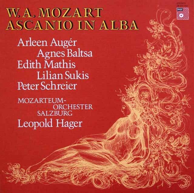 ハーガーのモーツァルト/歌劇「アルバのアスカニオ」 独BASF 3326 LP レコード