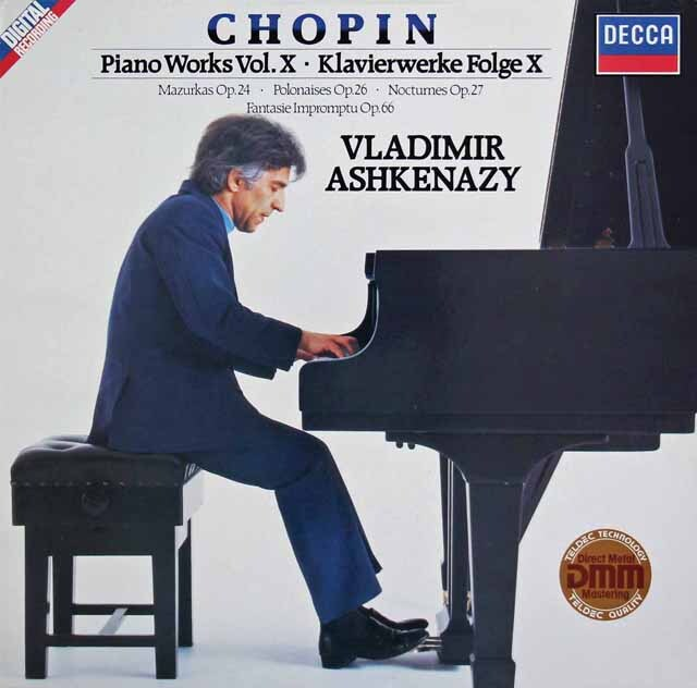 アシュケナージのショパン/ピアノ作品集 (10)「幻想即興曲」ほか  独DECCA 3327 LP レコード