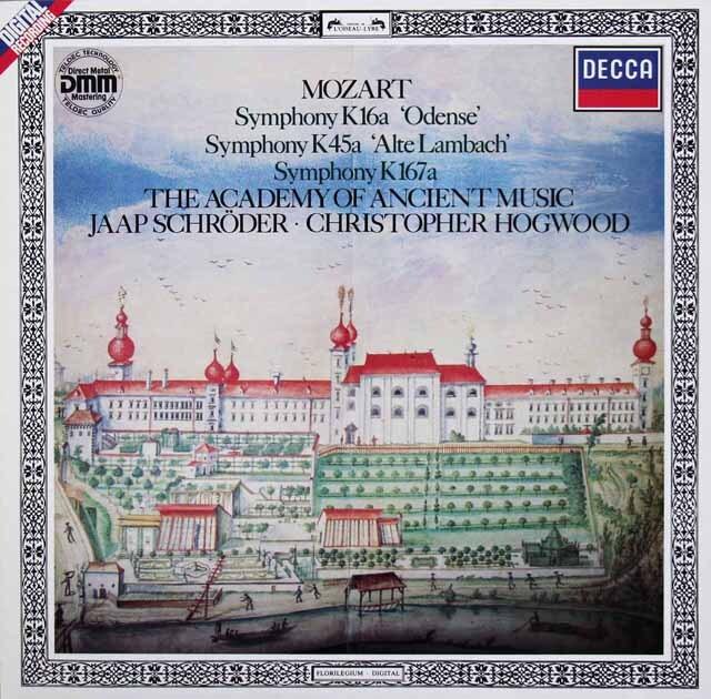 ホグウッドのモーツァルト/交響曲「オーデンセ」&「旧ランバッハ」ほか 独DECCA 3327 LP レコード