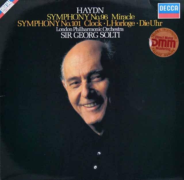 ショルティのハイドン/交響曲第96番「奇蹟」&第101番「時計」 独DECCA 3327 LP レコード