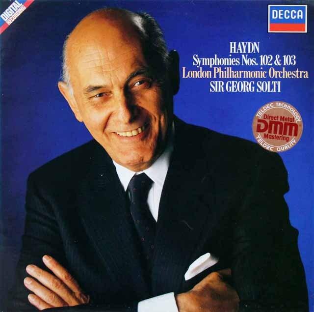 ショルティのハイドン/交響曲第102番&第103番「太鼓連打」 独DECCA 3327 LP レコード