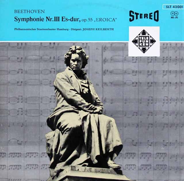 【オリジナル盤】 カイルベルトのベートーヴェン/交響曲第3番「英雄」 独TELEFUNKEN 3327 LP レコード