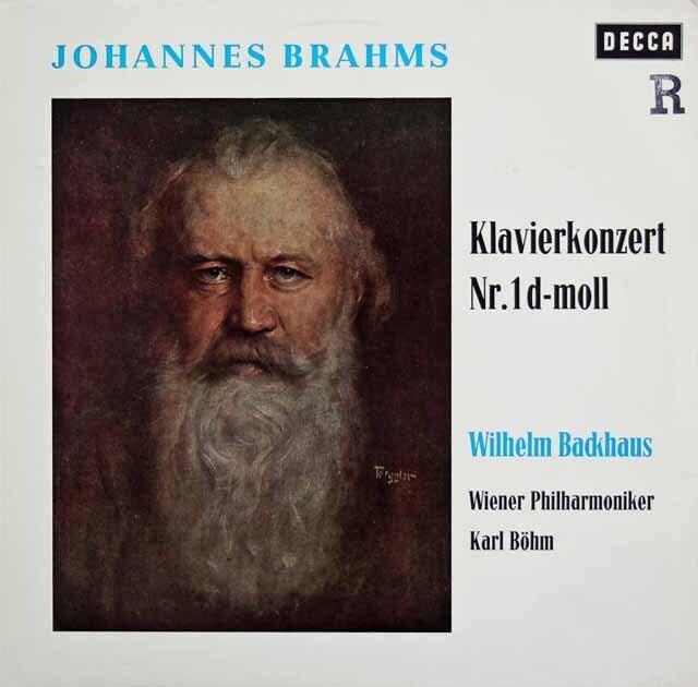 バックハウス&ベームのブラームス/ピアノ協奏曲第1番 独DECCA 3327 LP レコード