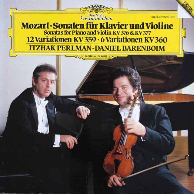 パールマン&バレンボイムのモーツァルト/ヴァイオリンソナタ第32&33番ほか 独DGG 3327 LP レコード