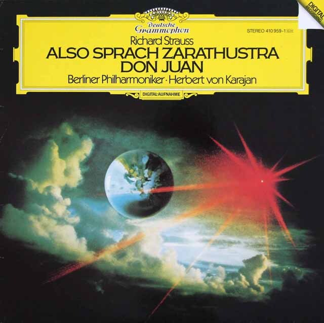 カラヤンのR.シュトラウス/「ツァラトゥストラ」&「ドン・ファン」 独DGG 3327 LP レコード