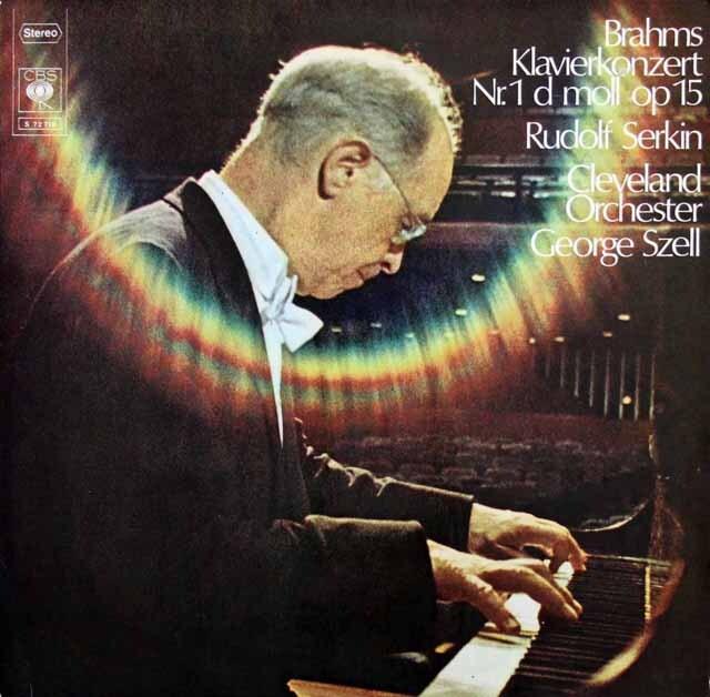 ゼルキン&セルのブラームス/ピアノ協奏曲第1番 独CBS 3327 LP レコード
