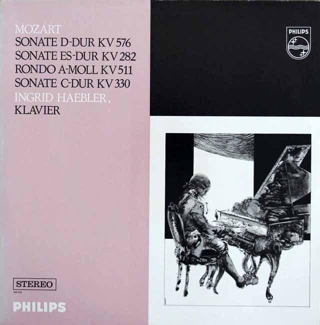 ヘブラーのモーツァルト/ピアノソナタ第4、10、18番ほか 蘭PHILIPS 3327 LP レコード