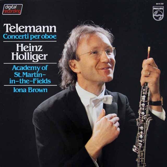 ホリガーのテレマン/オーボエ協奏曲集 蘭PHILIPS 3327 LP レコード